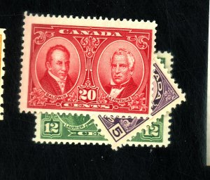 CANADA #146-8 MINT F-VF OG HR Cat $42