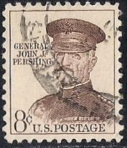1042A 8 cent John J. Pershing Stamp used EGRADED XF 90 XXF