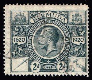 UK STAMP BERMUDA 1910 -1925 Caravel 2P USED STAMP GREY $33