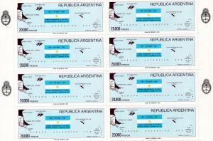 Argentina 1983 Recovery Malvinas Mini-Shlt (8)Sc#1411 MNH VF