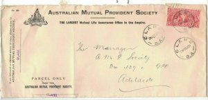 APH1484) Australia 1931 2d Red KGV Die I Long Advertising Cover