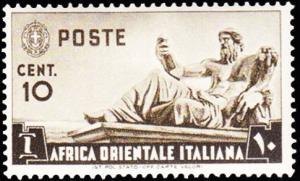 Italian East Africa Scott 4 Unused hinged.