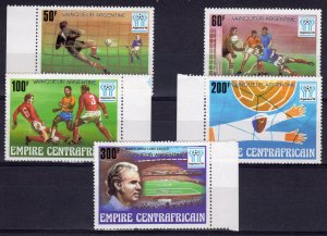 Central African Empire 1978 Sc#370/374 WORLD CUP '78  WINNERS Set (5) MNH