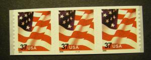 Scott 3632, 37 cent Waving Flag, PNC3 #3333, MNH