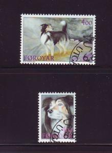 Faroe Islands Sc 266-7 1994 Sheep Dogs stamp set used