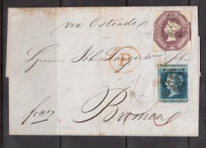 Great Britain #7 & #2P Misperf Used On Folded Letter