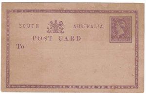 SOUTH AUSTRALIA - Postal Stationary Card 1p Unused