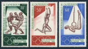 Cameroun C107-C109,C109a,MNH.Mi 552-554,Bl.4. Olympics Mexico-1968.Boxing,Jump,