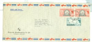 BERMUDA 1953 QE  #144 & #152 ON NICE COMMERCIAL AIR COVER