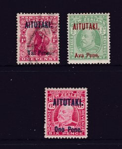 Aitutaki x 3 earlies 2 MH 1 used