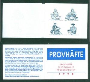 Sweden. Testprint, Booklet 1996. Four Decades. Mnh.  Engraver: L. Sjooblom