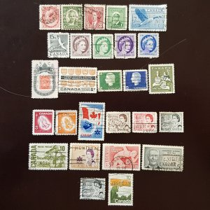 Canada Set of 27v Used Stamps. Few Rare