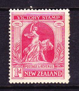 NEW ZEALAND 1920 1d VICTORY  MH