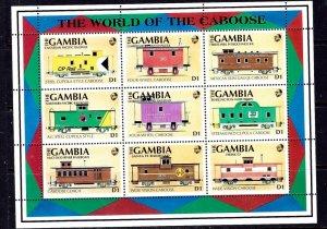 Gambia 1114 MNH 1991 Cabooses    (ap2852)