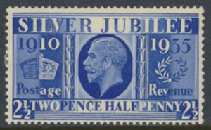 GB SG 456 1935   SC# 229 MLH  Silver Jubilee   light gum yellowing see scans