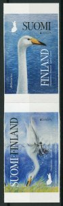 Finland 2019 MNH Birds Europa Whooper Swan 2v S/A Set Swans Stamps