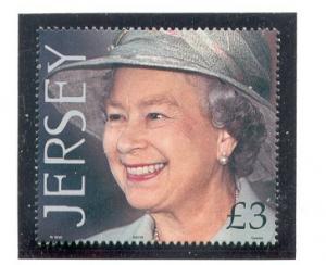 Jersey Sc 988 2001 £3 75th Birthday QE II stamp mint NH