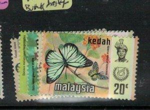 Malaysia Kedah SG 124-5, 128-30 Butterfly MNH (2exb)