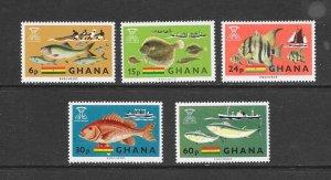FISH - GHANA #251-5   MNH