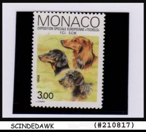 MONACO - 1988 European Dachshund Show, Monte Carlo DOGS - 1V MNH