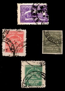 4 CHARKHARI  (INDIAN STATE) (AGAIN)  Stamps