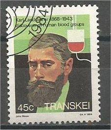 TRANSKEI, 1981, used 45c, Karl Landsteiner. Scott 108