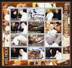 Karakalpakia Republic 2003 Pope John Paul II perf sheetle...