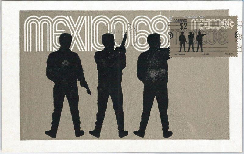 57442  -   MEXICO - POSTAL HISTORY: MAXIMUM CARD 1968 -  OLYMPIC GAMES Shooting