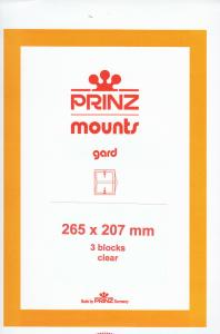 PRINZ CLEAR MOUNTS 265X207 (3) RETAIL PRICE $10.50