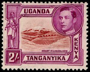 KENYA UGANDA TANGANYIKA SG146, 2s lake-bwn&brwn-purple, M MINT.Cat £130. P13 1/4