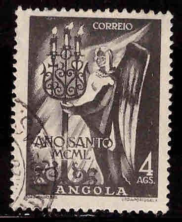 Angola  Scott 332  Used  stamp from Holy year 1950 set