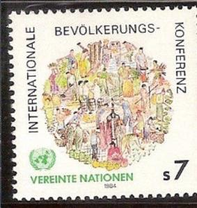 UNITED NATIONS Vienna 1984 Int'l Conference on Population SC # V39 MNH