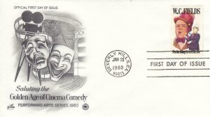 1980, W. C. Fields, Artcraft/PCS, FDC (E8030)