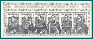 New Zealand 1990 Stamp Anniversary, MS, MNH  #1003,SGMS1568