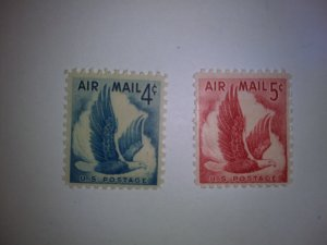 SCOTT # C48/ C50 AIR MAIL SET SINGLES MINT NEVER HINGED !!