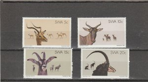 South West Africa  Scott#  443-446  MNH  (1980 Antelope)