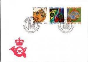 Denmark, Worldwide First Day Cover, Art