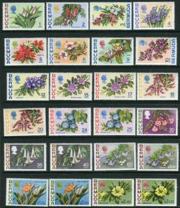 BERMUDA-1970-75 Flowers.  An unmounted mint set to $3 Sg 249-265a