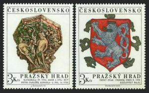 Czechoslovakia 1817-1818,MNH. Michel 2071-2072 Prague Castle,1972.Adam and Eve,