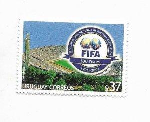 URUGUAY 2004 FIFA INTERNATIONAL FOOTBALL ORG. 100 YEAR STADIUM SOCCER 1 VALUE