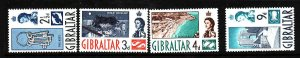 Gibraltar-Sc#149//155-unused NH-4 values from the set-1960-
