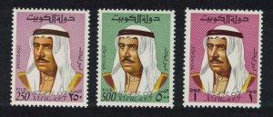 Kuwait Amir Sheikh Sabah 3v KEY VALUES 1969 MNH SG#468-470