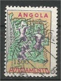 ANGOLA, 1965, used 1e Map of Angola, Scott RA23