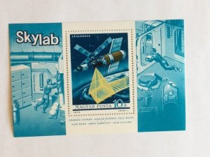 "Hungary–1973–Single ""Space"" Air Post Mini-Sheet–SC#C346-MNH"
