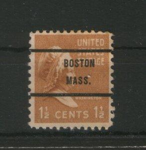 USA-UNUSED STAMP-OVERPRINT BOSTON MASS.