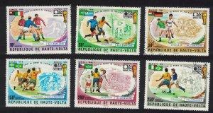 Upper Volta Winner of Football World Cup 1974 6v 1974 CTO SC#C196 MI#524-529