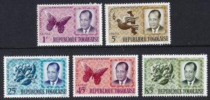 Togo 486-90 MNH cv 4.30 BIN $2.50