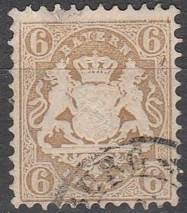 Bavaria #25A  F-VF Used CV $70.00  (A13053)