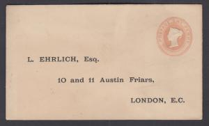Great Britain H&G KB11 mint 1883 1p Printed to Private Order Envelope