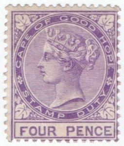 (I.B) Cape of Good Hope Revenue : Stamp Duty 4d (1877)